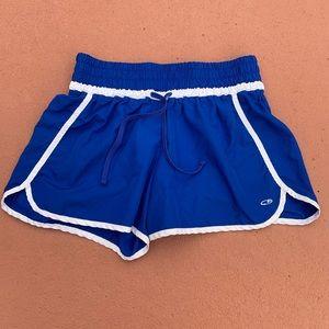 Blue and white shorts size medium